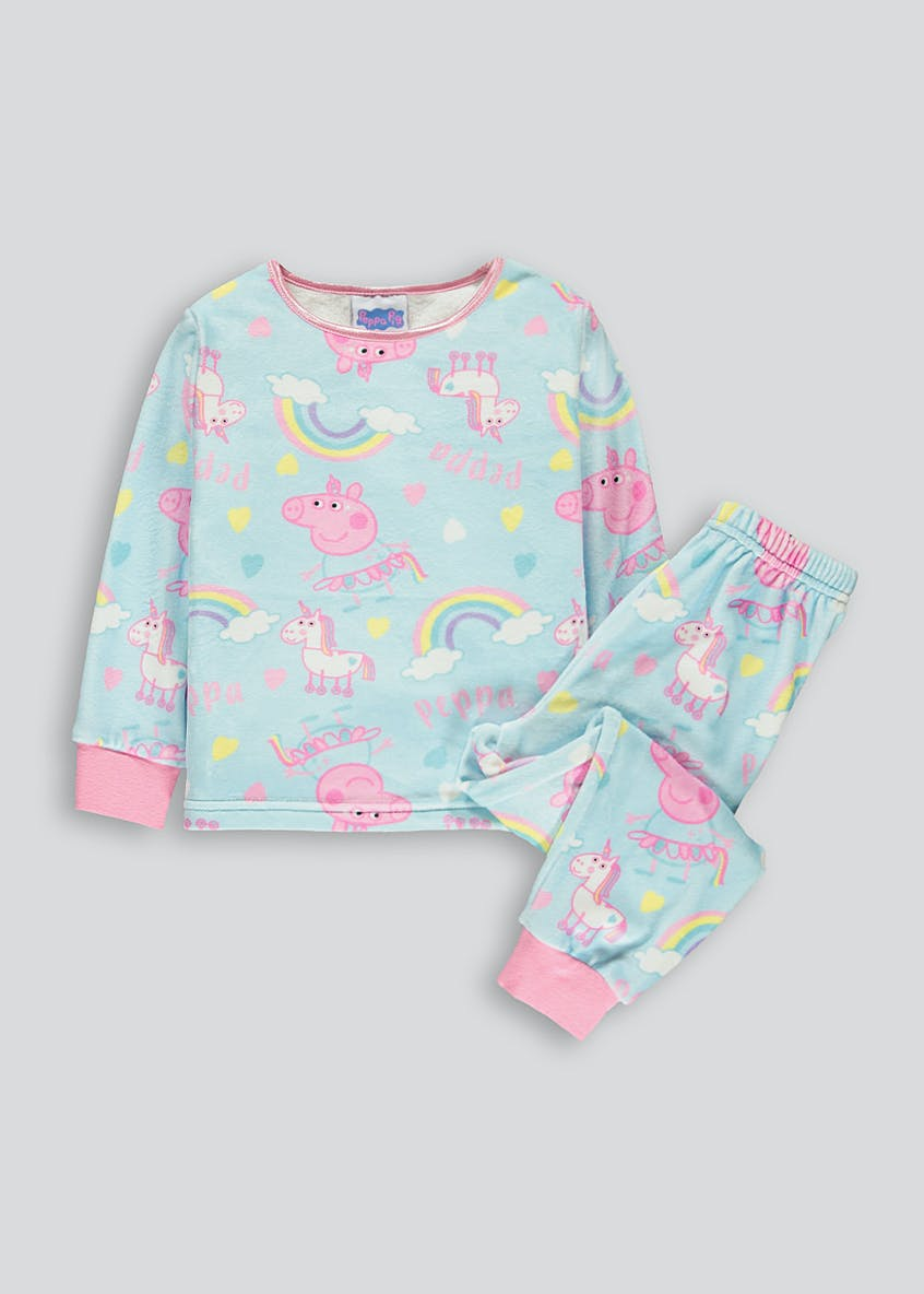 Kids Peppa Pig Fleece Pyjamas (9mths-5yrs)