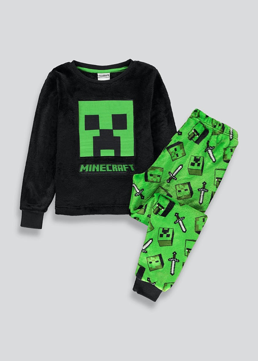 Kids Minecraft Fleece Pyjama Set (6-12yrs)
