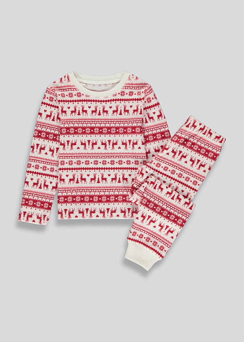 Kids Mini Me Christmas Fair Isle Pyjama Set (4-13yrs)
