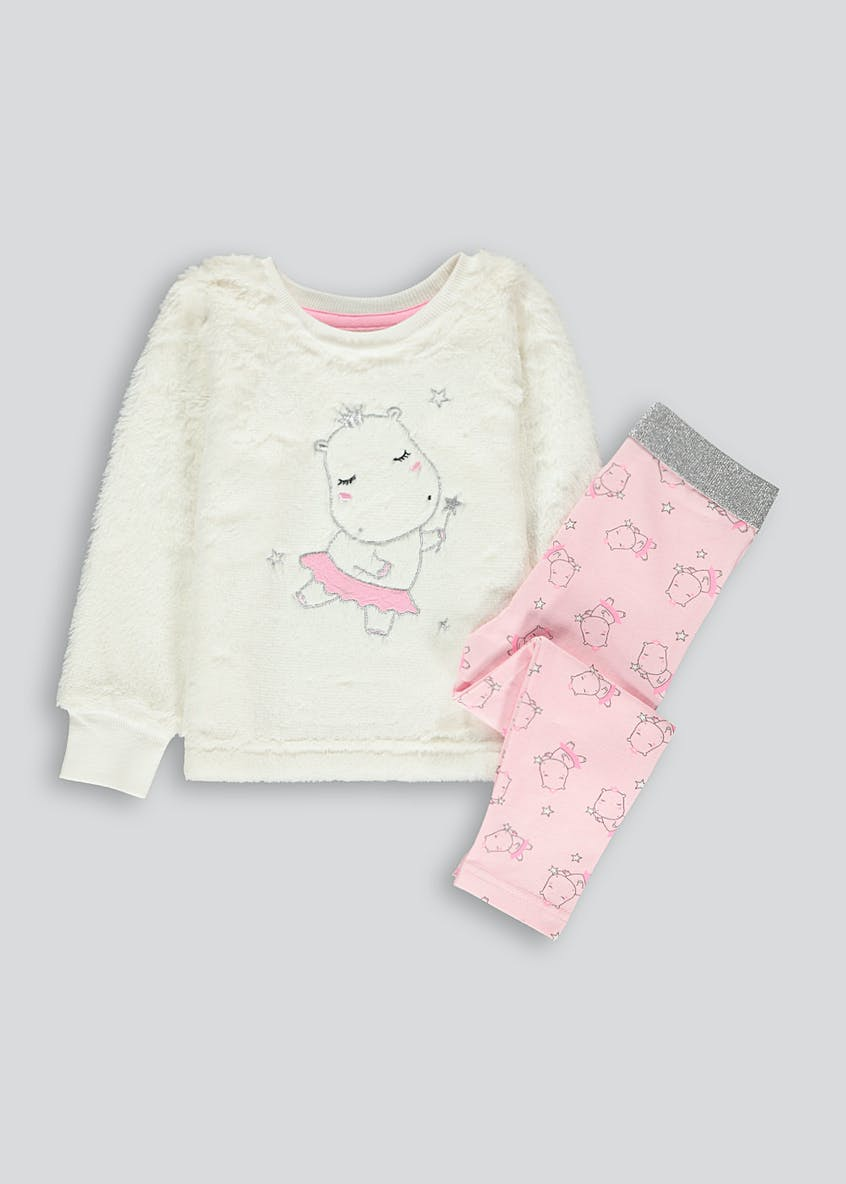 Girls Hippo Lounge Set (9mths-5yrs)