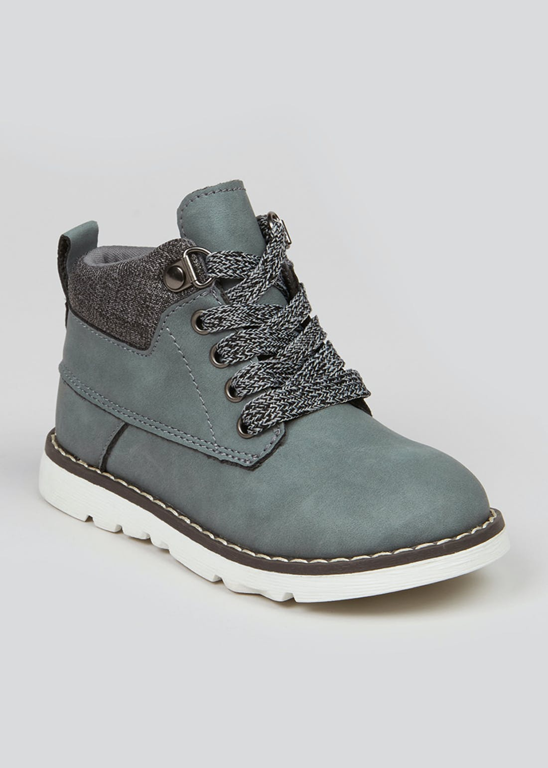 Boys Grey Lace Up Fashion Boots (Younger 4-12)