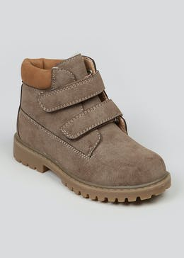 Kids Taupe Hiker Boots (Younger 4-12)
