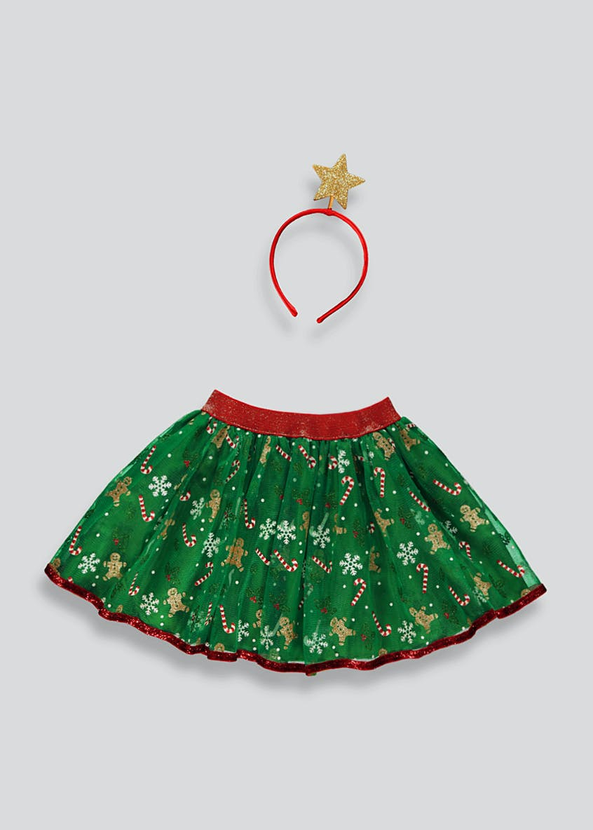 Kids Christmas Tutu & Star Headband Costume (One Size)