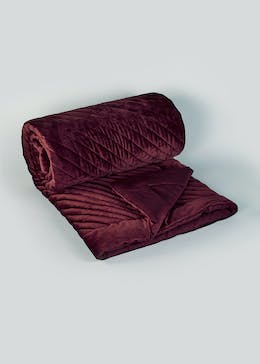Farhi by Nicole Farhi Quilted Velvet Throw Blanket (230cm x 170cm)