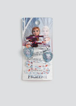 Girls 6 Pack Disney Frozen 2 Heart Hair Clips