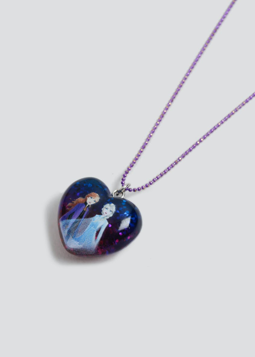 Girls Disney Frozen 2 Sparkle Heart Necklace