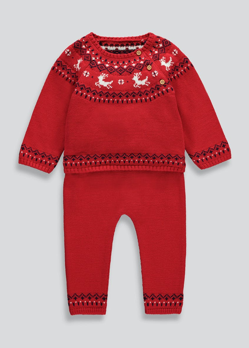 Unisex Novelty Knitted Fair Isle Set (Tiny Baby-18mths)