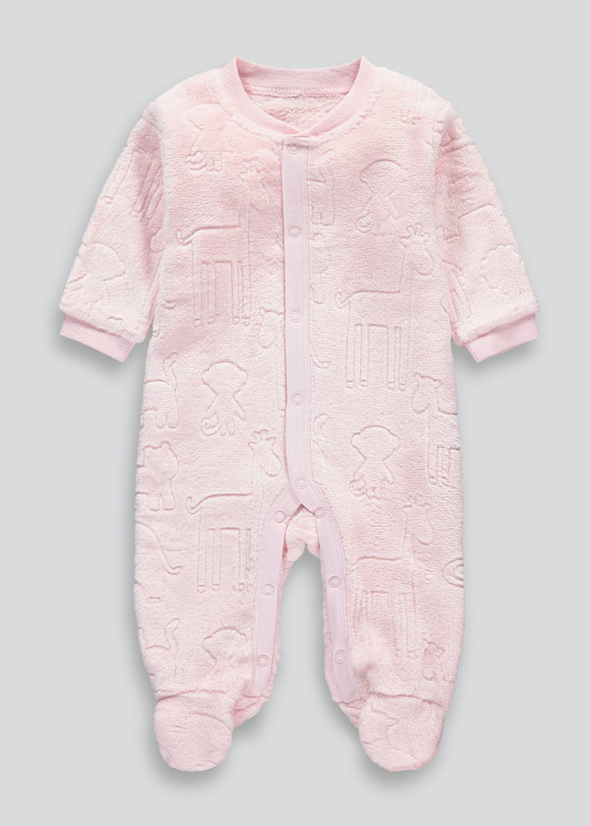 Unisex Embossed Animal Baby Grow (Tiny Baby-23mths)