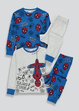 Kids 2 Pack Spider-Man Pyjamas (2-9yrs)