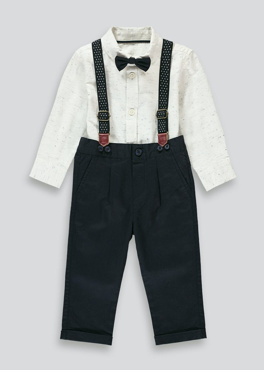 Boys Trousers Shirt & Braces Set (9mths-6yrs)