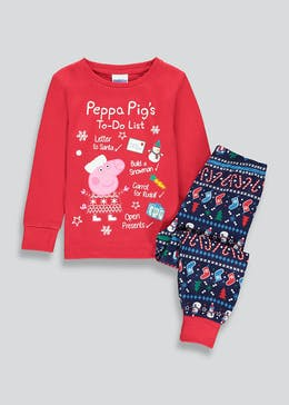 Kids Peppa Pig Christmas Pyjama Set (9mths-5yrs)