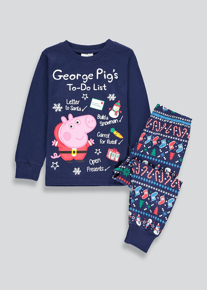 Kids George  Pig Christmas Pyjama Set (9mths-5yrs)