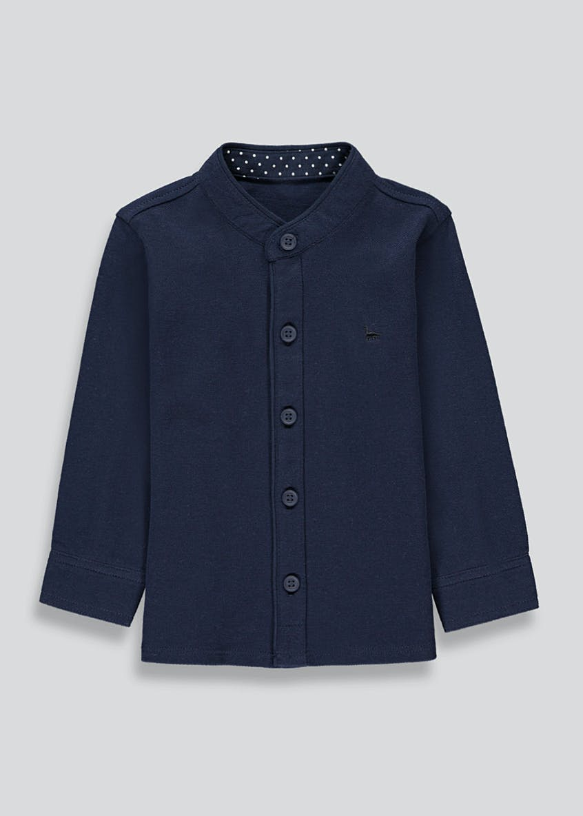 Boys Long Sleeve Pique Shirt (9mths-4yrs)