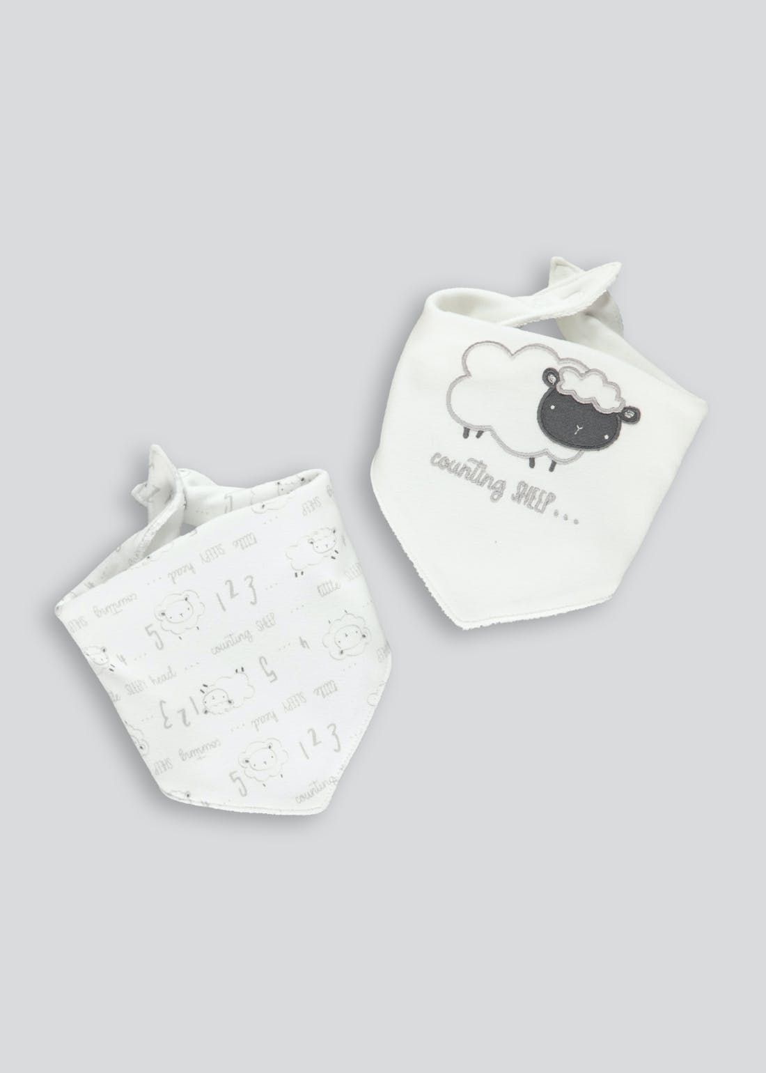 2 Pack Sheep Bandana Bibs (One Size)