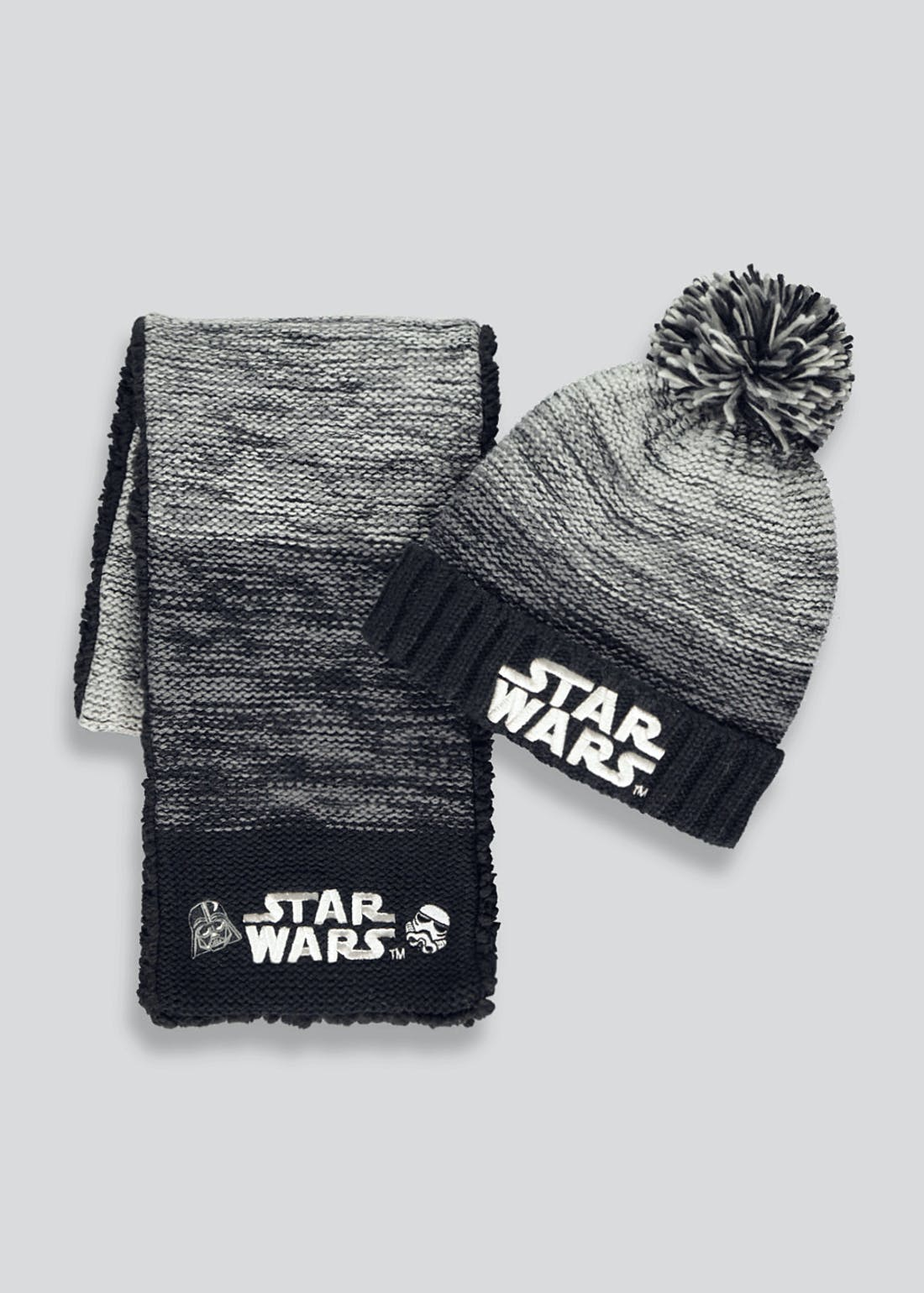 Boys Star Wars Hat & Scarf Set (3-10yrs)