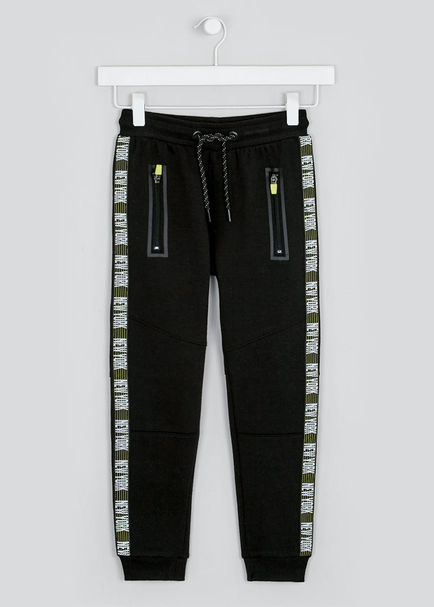 Boys New York Side Tape Jogging Bottoms (4-13yrs)