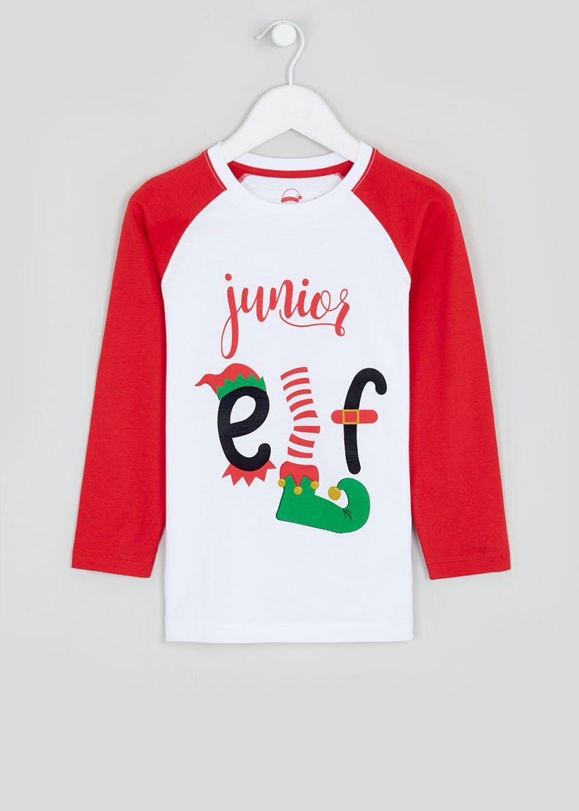 Kids Junior Elf Christmas T-Shirt (4-13yrs)