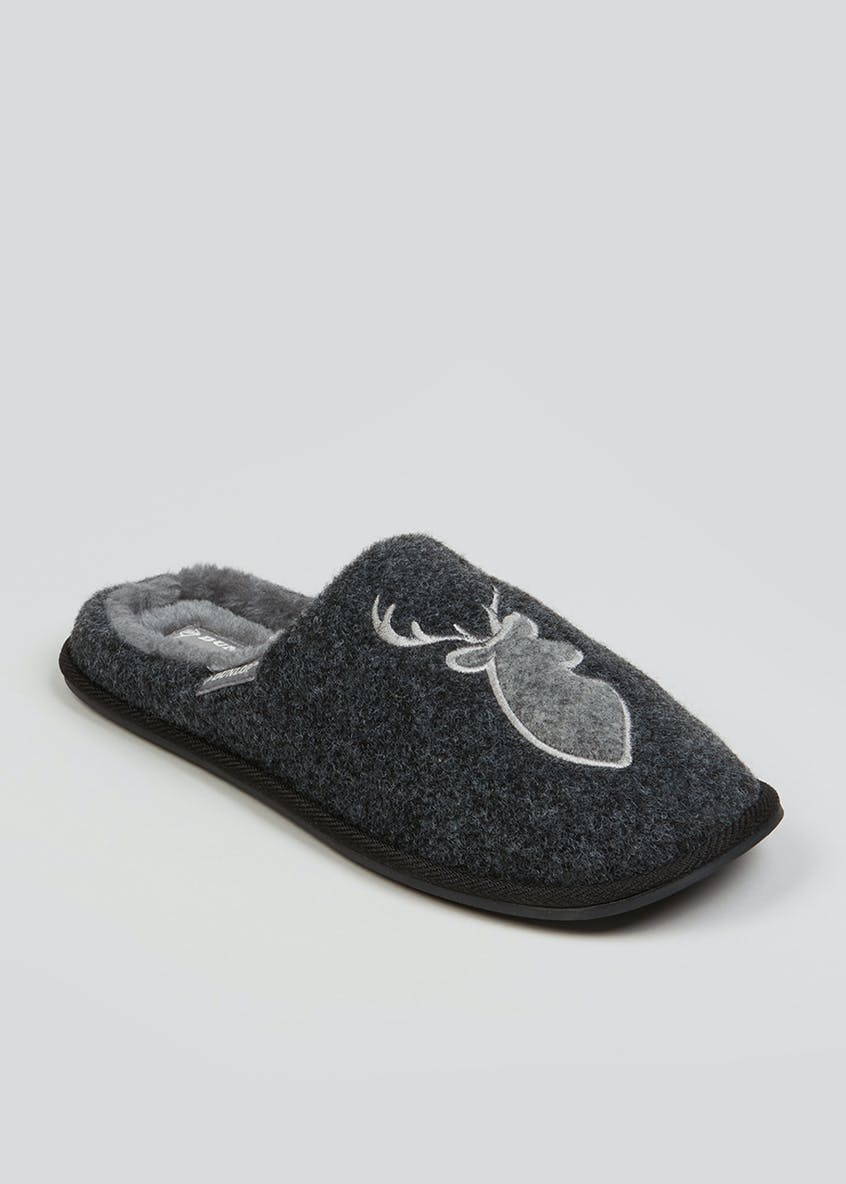 Dunlop Black Perry Mule Slippers