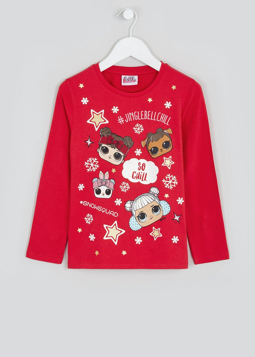 Girls L.O.L. Surprise Christmas T-Shirt (4-11yrs)