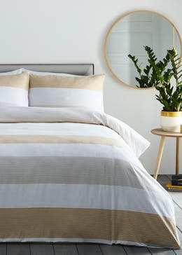 Silentnight Seersucker Stripe Duvet Cover