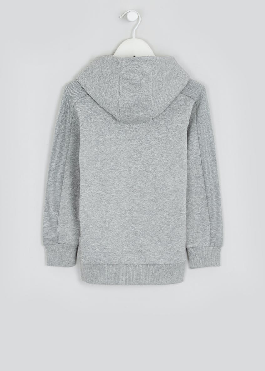 Boys Ribbed Panel Pull On Hoodie (4-16yrs)