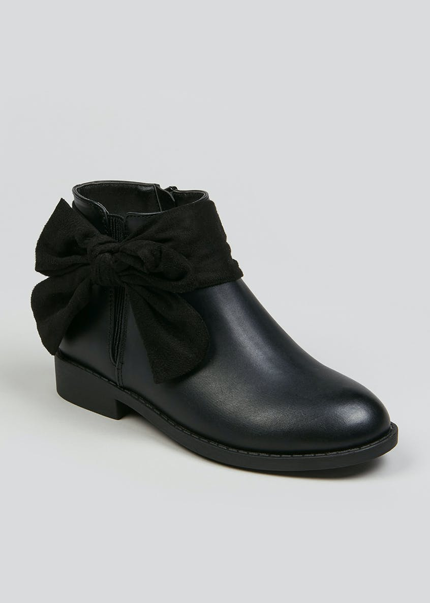 Girls Side Bow Chelsea Boots (Younger 10-Older 5)