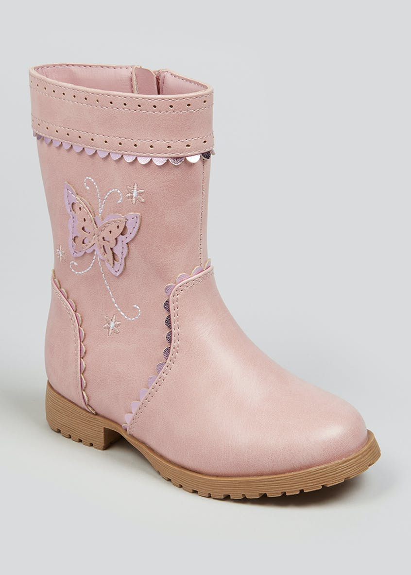 Girls Butterfly Knee Boots (Younger 4-12)