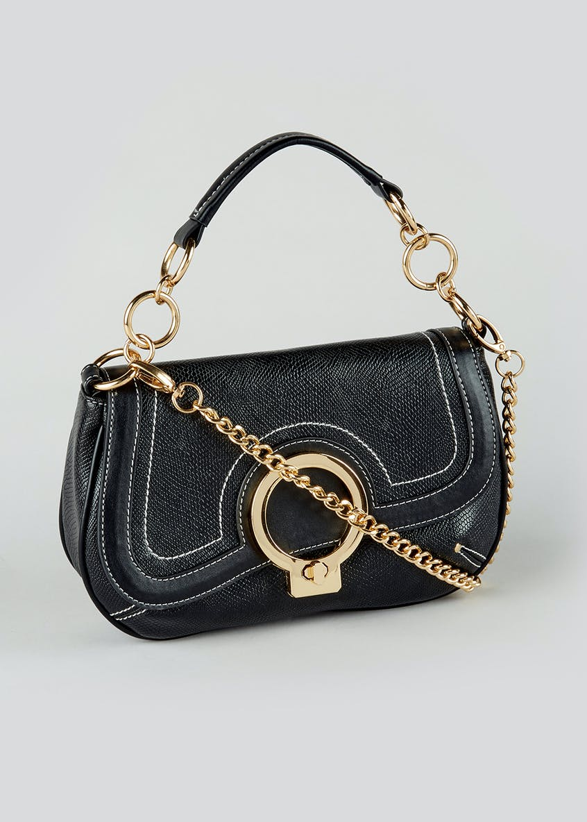 Chain Strap Saddle Bag