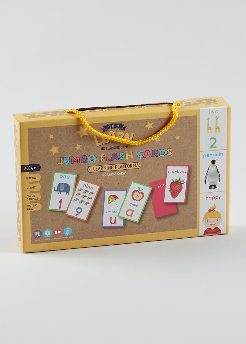 Kids Jumbo Flash Cards (27cm x 17cm x 3.5cm)