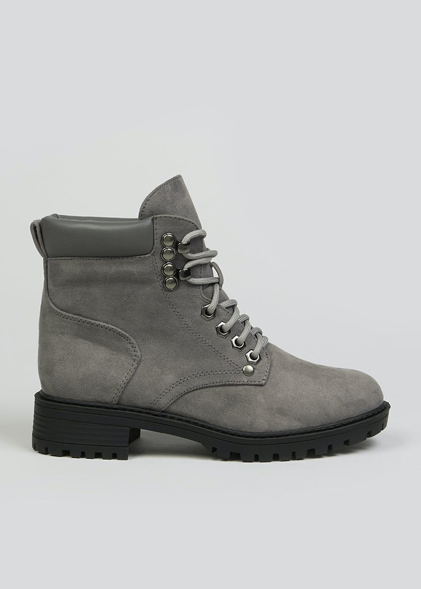 Lace Up Cleated Boots