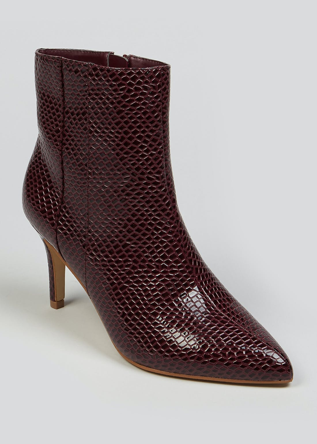 Wide Fit Burgundy Point Boots
