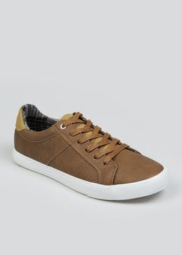 Panel Lace Up Trainers