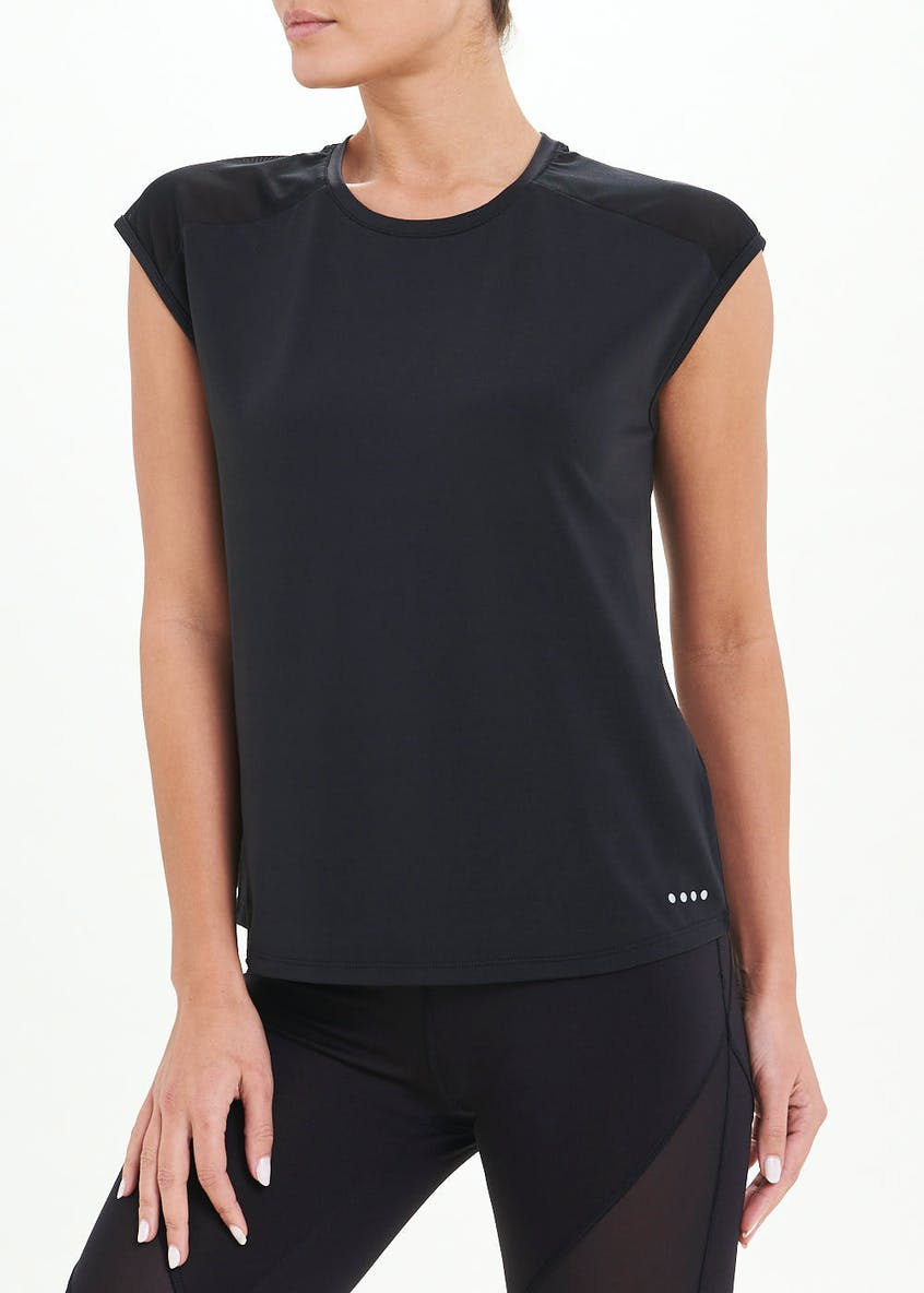 Souluxe Black Panel Gym T-Shirt