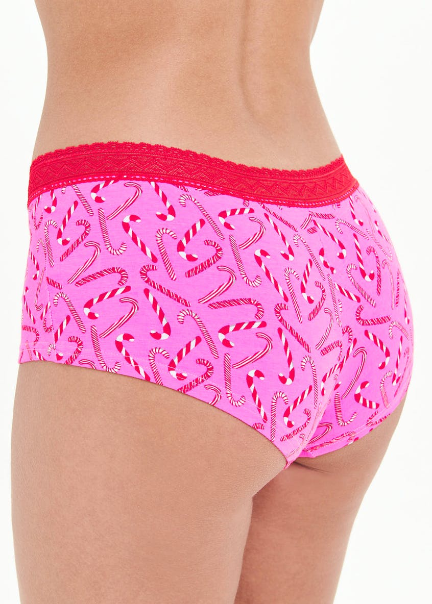 Candy Cane Print Knickers