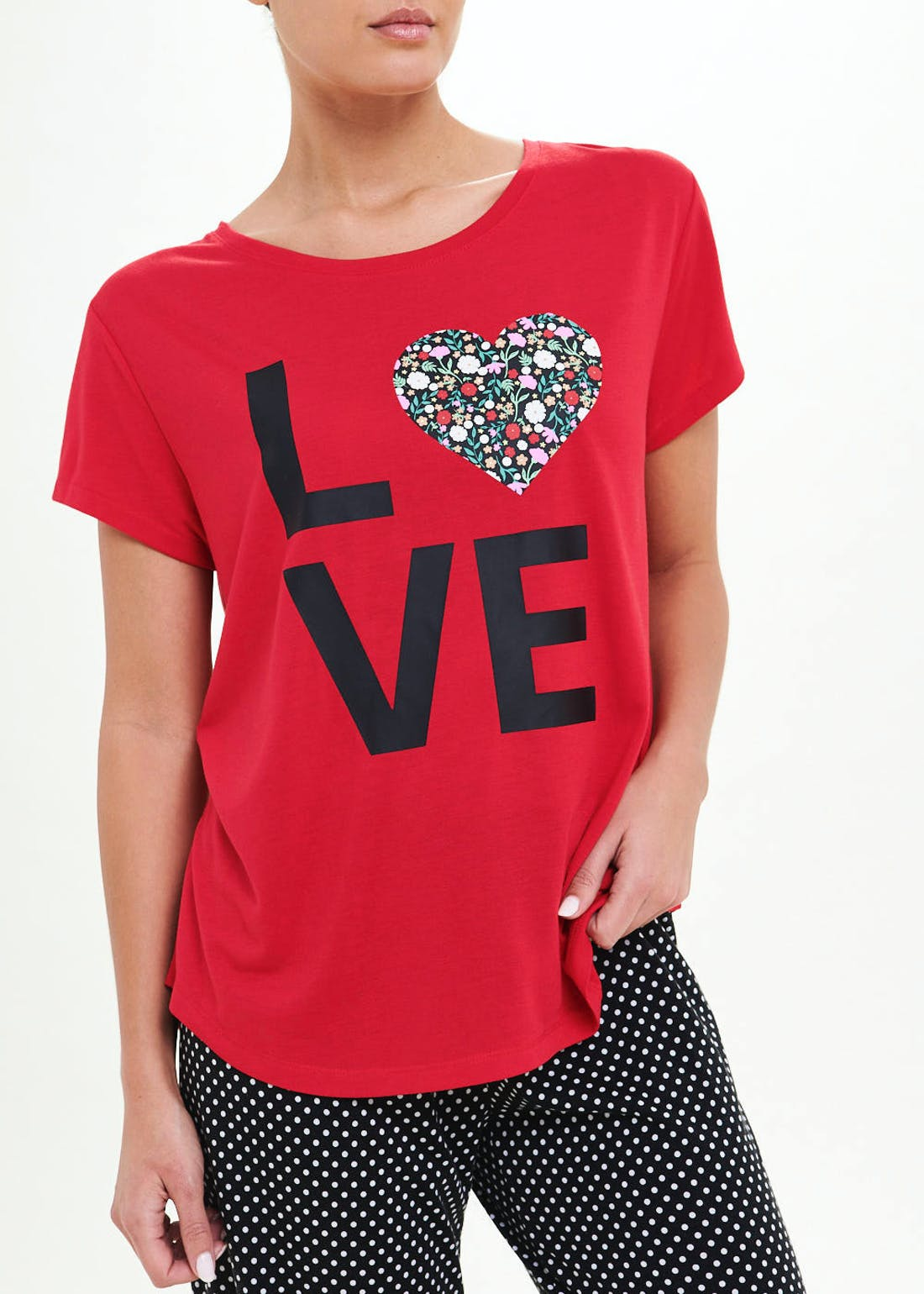 Love Printed Pyjama Set