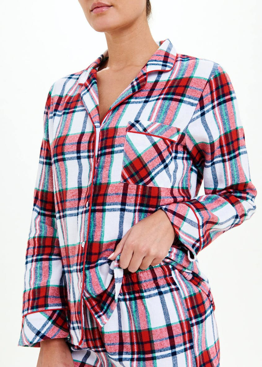 Brushed Cotton Check Short Pyjama Set