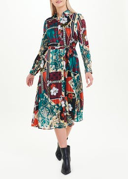 Soon Scarf Print Shirt Dress