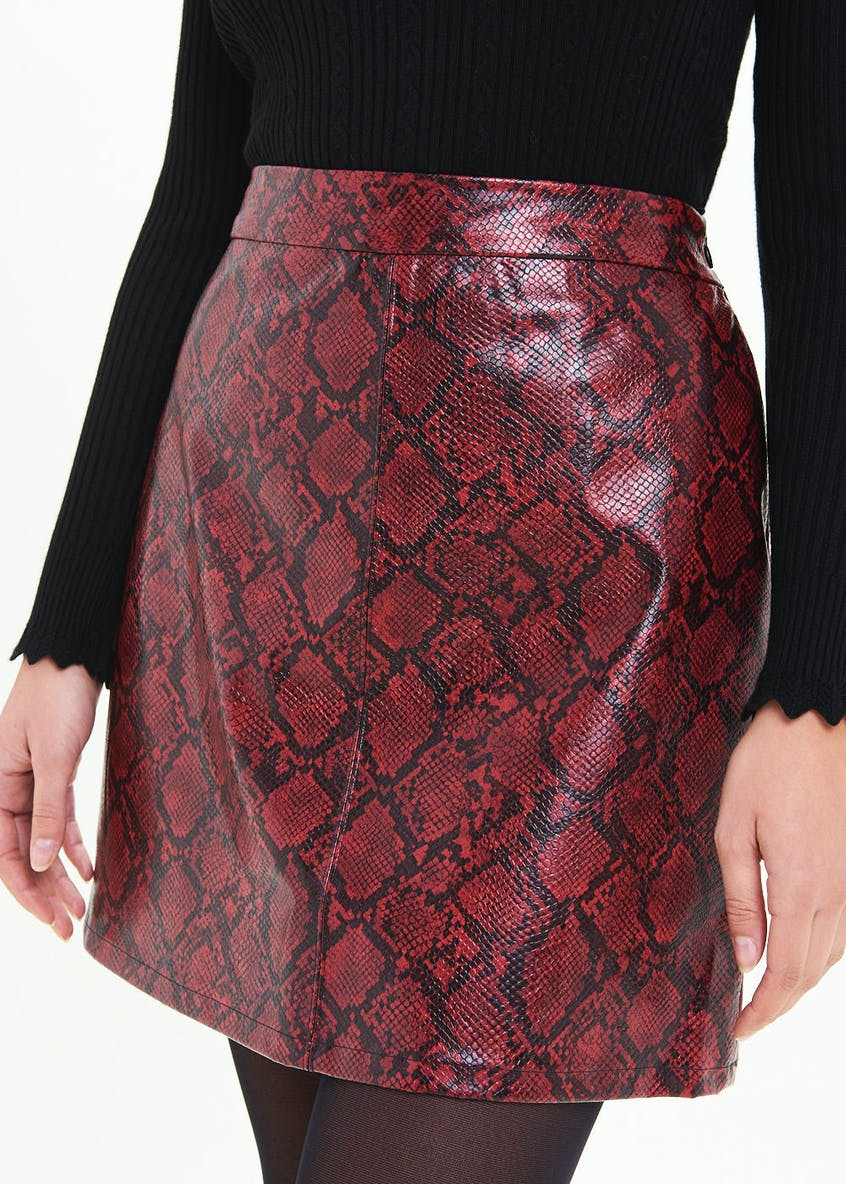 Snakeskin Mini Skirt