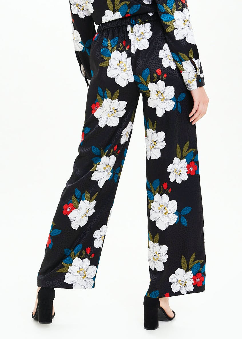 Soon Floral Jacquard Wide Leg Trousers