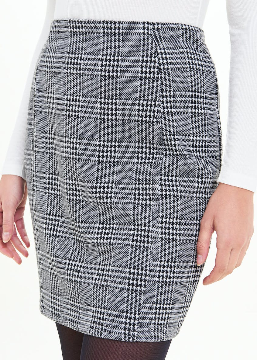 Textured Check Mini Skirt