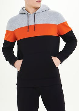US Athletic Colour Block Hoodie