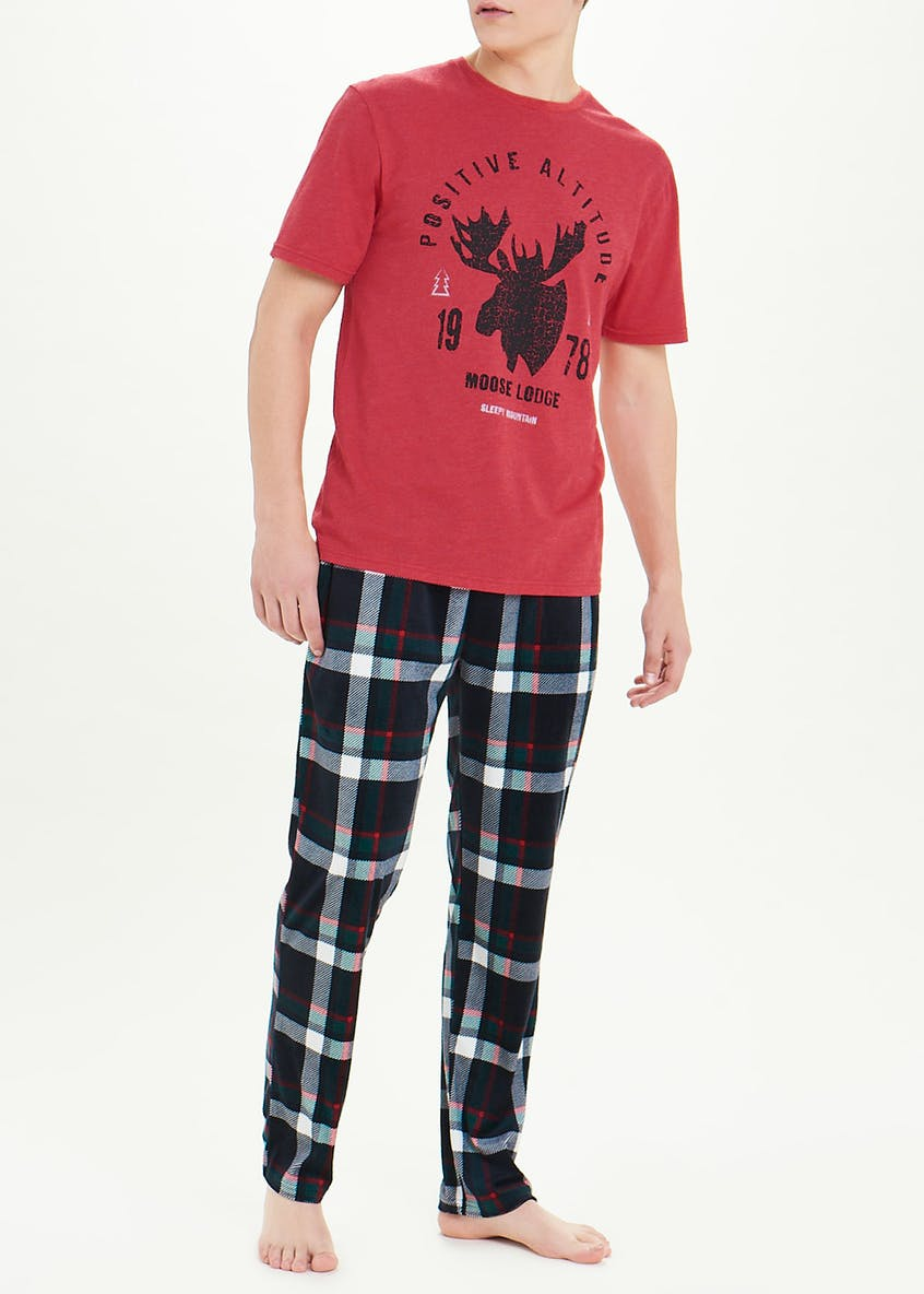 Moose Check Pyjama Set