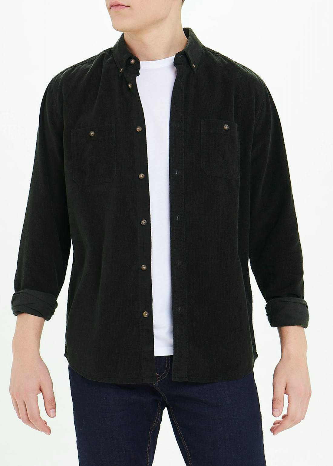 Big & Tall Long Sleeve Cord Shirt