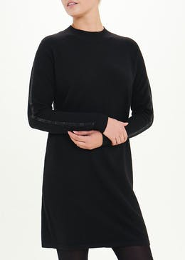 Sparkle Sleeve Jumper Dress
