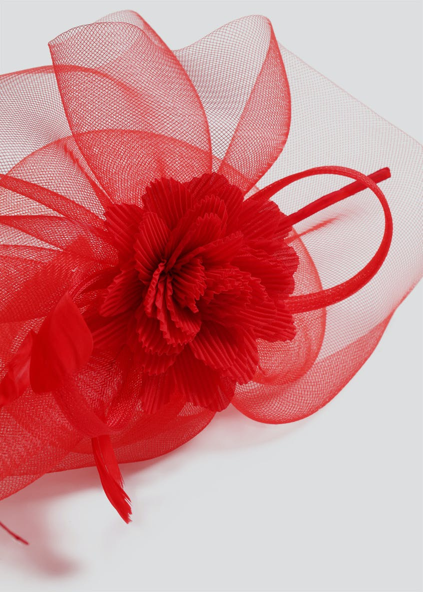 Crinkle Flower Fascinator Headband