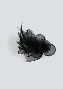 Diamante Loop Feather Fascinator Clip