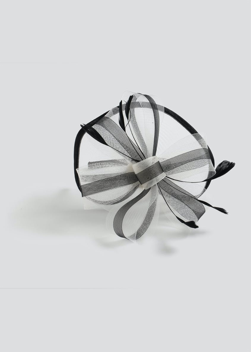 Bow Feather Fascinator Headband