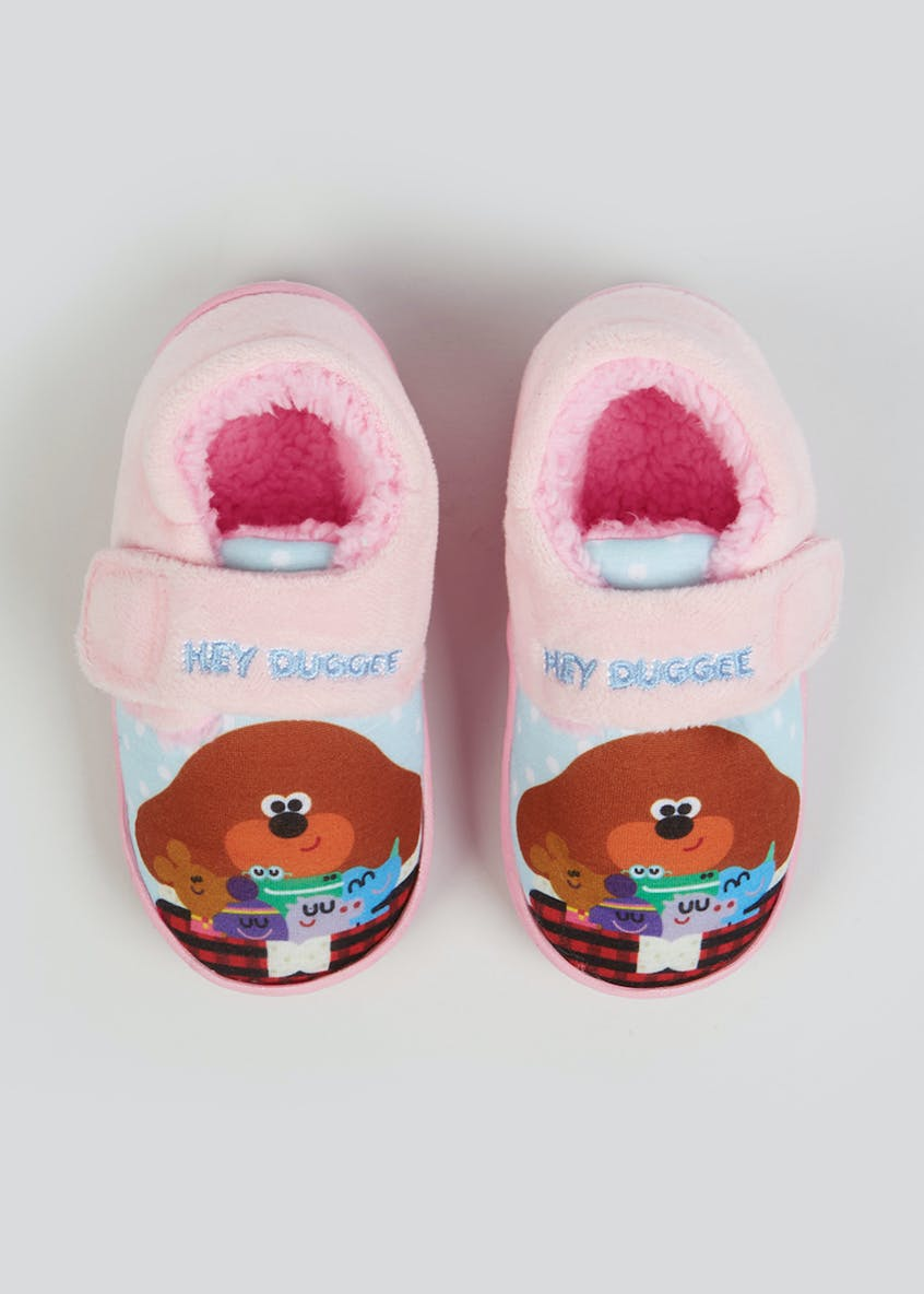 Kids Pink Hey Duggee Co-Ord Slippers (Younger 4-12)