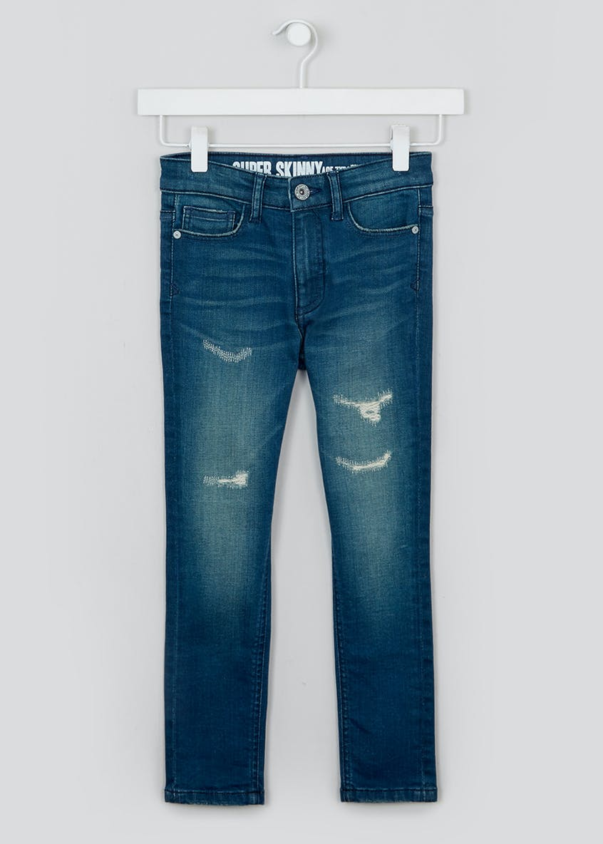 Boys Rip and Repair Skinny Jeans (4-13yrs)