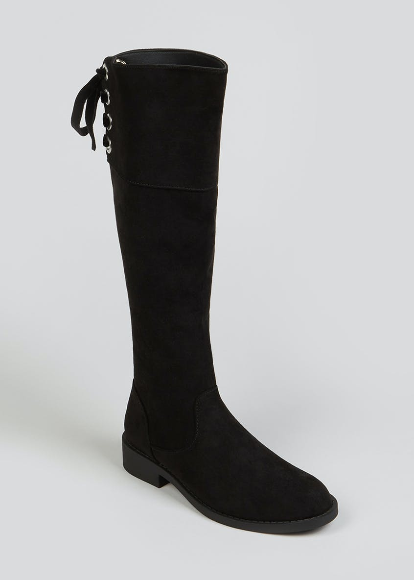 Girls Black Knee High Boots (Younger 10-Older 5)